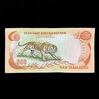 Tiền Con Cọp 500 đồng Việt Nam Dùng Sưu tầm, lưu niệm, làm quà tặng, dịp Lễ Tết, sinh nhật, TIỀN LÌ XÌ độc lạ dịp năm mới 2022 Nhâm Dần, kích thước 76 x 152mm, màu cam chủ đạo, trắng - TMT Collection - SP001799