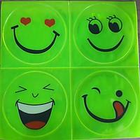 Combo 8 mặt cười dán phản quang loại to ( hình ngẫu nhiên)