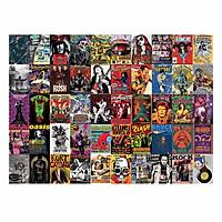 ROCK MUSIC - Set 50 tấm 22x30cm decal dán tường trang trí decor quán nhà cửa chủ đề Nhạc Rock