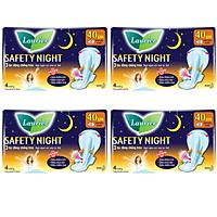 Combo 4 Băng Vệ Sinh Laurier Safety Night Ban Đêm (40cm- 4M)