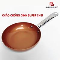 Chảo Chống Dính Super Chef Ceramic Gốm Đảm Bảo An Toàn Sức Khỏe, Không Bong Tróc, Giảm Trầy Xước, Hạn Chế Dầu Mỡ, Siêu Bền Bỉ, Sang Trọng Bắt Mắt và Tiện Lợi ( size từ 18cm -26cm)