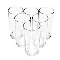 Bộ ly 6 cái Union Glass 312 Ly trắng cao đáy bằng 340 ml  không ngã màu,  sản xuất Thái Lan