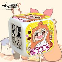 Đồng hồ báo thức để bàn in hình CÔ EM GÁI HAI MẶT Himouto! Umaru-chan đèn LED đổi màu anime chibi tiện lợi xinh xắn