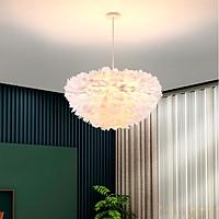 Đèn chùm ASTER lông vũ hiện đại kiểu dáng độc đáo, sang trọng với 3 cế độ ánh sáng - kèm bóng LED chuyên dụng.