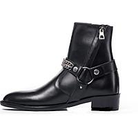 Giày Nam Harness Boots Giày Boots Nam Da Bò Đế Cao Su Cao Cấp Kiểu Dáng Trẻ Trung Năng Động BẢO HÀNH 12 THÁNG Tặng Phụ Kiện