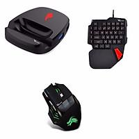 Bộ chuyển đổi game REZAR P30, bàn phím có dây k108 và chuột x3 hỗ trợ chơi game PUBG, Call of Duty - Hàng Chính Hãng