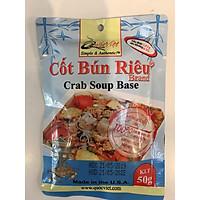 GIA VỊ NẤU Bún riêu Quốc Việt Foods 50g-Gia vị hoàn chỉnh nhập khẩu