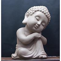 Tượng Phật Thích Ca - Màu Lông Chuột như hình- làm bằng vật liệu nhựa Composite