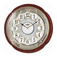 Đồng hồ treo tường RHYTHM 4MH828WD23 - Nâu , Kích thước 38.5 x 38.5 x 11.5cm (Magic Motion Clocks)