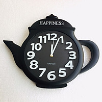Đồng hồ treo tường hình ấm trà (giao màu ngẫu nhiên)