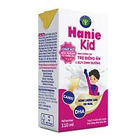 Thùng sữa bột pha sẵn Nutricare Hanie Kid - dinh dưỡng cho trẻ biếng ăn & suy dinh dưỡng trên 1 tuổi (110ml x 48 hộp)