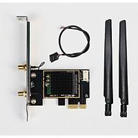 Card WIFI Bluetooth cho PC sử dụng chip Intel AC 8260 khe PCI cho  tích hợp Bluetooth 4.2 tốc độ 867M có tản nhiệt