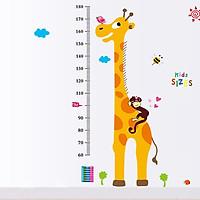 Decal dán tường thước đo hươu cao cổ cho bé XL8203