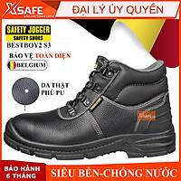 Giày bảo hộ lao động nam Jogger Bestboy2 S3 da bò, chống thấm nước, chống đinh, trơn trượt - Giày công trình, nhà máy