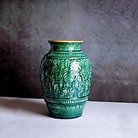 Bình hoa hoa văn Trống Đồng/ Ngàn Hoa - Gốm sứ Bát Tràng - Trang Trí Nhà Cửa