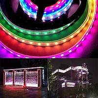 WS2811 5050 RGB LED Strip Light Waterproof Individually Addressable DC 12 V