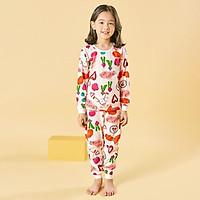 Bộ đồ dài tay mặc nhà cotton giấy cho bé gái U1011 - Unifriend Hàn Quốc, Cotton Organic
