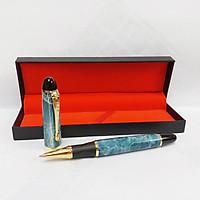 Bút ký kim loại vân đá phong thủy cao cấp CEO 12 ART XANH
