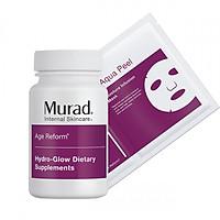 Thực Phẩm Chức Năng Bộ đôi cấp ẩm từ trong ra ngoài Murad (Hydro-Glow Dietary Supplements+ Hydro-Glow Aqua Peel )