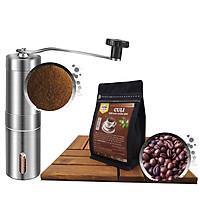 Combo Gói Cà Phê CULI Nguyên Chất Đặc Biệt 300gr Dạng Hạt + Máy Xay Cà Phê Cầm Tay - Coffee New