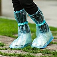 Ủng bọc giày đi mưa cổ cao CÓ ĐẾ CHỐNG TRƠN TRƯỢT loại cao cấp dùng cho cả nam và nữ