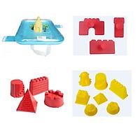 Bộ khuôn chơi cát motion sand mô hình xây dựng và khay phao chơi cát