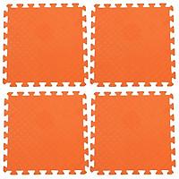 Bộ 4 tấm Thảm xốp lót sàn an toàn Thoại Tân Thành - màu cam (50x50cm)