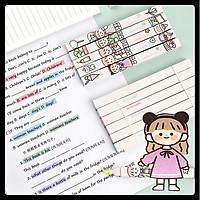 Set 6 bút dạ đánh dấu nhớ dòng, bút 2 ngòi tiện ích đa năng màu pastel hottrend siêu đẹp