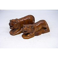 Tượng Hổ Đực và Hổ Cái bằng gỗ hoàng đàn