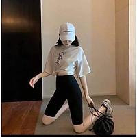 Quần legging ngố nâng mông- Legging hottrend 2021 nâng mông dáng thể thao