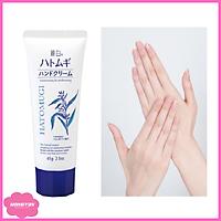 Sữa dưỡng da tay mềm mại sáng màu không nhờn dính Hatomugi 65g (REIHAKU HATOMUGI HAND CREAM) tặng túi thun cột tóc