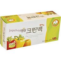 Hộp 100 Túi Đựng Thực Phẩm Hàn Quốc Size M + Tặng Hồng Trà Sữa (Cafe) Maccaca 20g