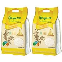Combo 2 sản phẩm Gạo Hạt Ngọc Trời Thiên Long Túi 5Kg - Gạo thơm đặc sản - Dẻo vừa, mềm cơm, thơm nhẹ