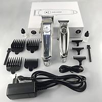 Bộ 2 tông đơ cắt tóc KemeI-1997 và chấn viền Kemei-1949 chuyên nghiệp không dây toàn thân là hợp kim nhôm cao cấp