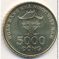 2 viên xu 5000 đồng Việt Nam 2003 sưu tầm