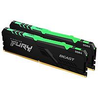 Ram Desktop Kingston Fury Beast RGB (KF436C18BBAK2/32) 32GB (2x16GB) DDR4 3600Mhz - Hàng Chính Hãng