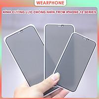 [Miếng dán màn hình] Kính Cường Lực Chống Nhìn Trộm dành cho iPhone 12 Mini / 12/ 12 Pro/ 12 Pro Max- Hàng Chính Hãng