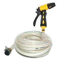 Bộ dây và vòi xịt tăng áp lực nước 300% rửa xe tưới cây loạI 10m (dây trắng)20631949810