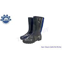 Ủng cao su đi mưa chống trơn màu đen HS
