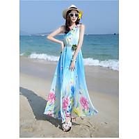 Đầm Maxi Lụa Hoa Cao Cấp - Hàng Nhập