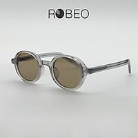 Kính mát thời trang ROBEO 9002 , gọng tròn bầu dục tròng phân cực chống tia uv - Fullbox