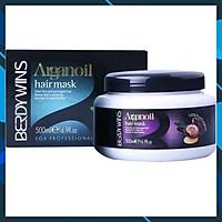 Hấp dầu Keratin phục hồi tóc hư tổn Berdywins Argan Oil (dạng hũ) 500ml