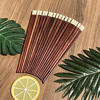 Bộ 10 đôi đũa gỗ trắc DandiHome cao cấp
