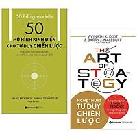 Combo sách kinh tế hay : 50 mô hình kinh điển cho tư duy chiến lược +  Nghệ thuật tư duy chiến - Tặng kèm postcard GREEN LIFE