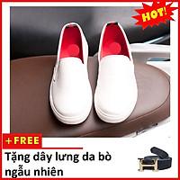 Giày Slip On Nam Aroti Đế Khâu Chắc Chắn Phong Cách Đơn Giản Màu Trắng - M498-TRANG(TL)-TRANG
