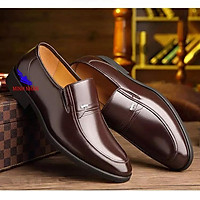 Giày tây nam da bò thật dành cho người trẻ, trung niên, cao niên Doanh Nhân Công sở giày ông già giày của bố O-6