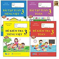 Sách - Combo Bài Tập Tuần và Đề Kiểm Tra Lớp 3 học kì 2 - Môn Toán và Tiếng Việt (4 cuốn)