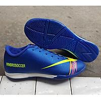Giày Đá Banh Futsal Đế Bằng Xanh WB