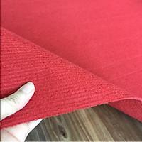 Thảm nỉ trải sàn màu đỏ tươi khổ 2m thảm lót sàn văn phòng showroom sự kiện an toàn cho da, sạch sẽ, dễ vệ sinh
