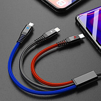 Dây Cáp Sạc Nhanh 3 Đầu USB Cho iPhone 7 Plus/Samsung Galaxy S8 (1m + 20cm)